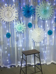 dance Snowflake backdrop for father/daugh - Winter Wonderland Decorations, Winter Wonderland Theme, Winter Theme, Dance Decorations, Dance Themes, Reception Decorations, Daddy Daughter Dates, Homecoming Dance, Prom