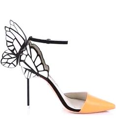 pinterest.com/fra411 #shoes - Sophia Webster Clara Patent Butterfly d'Orsay Pumps