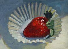 """Plant City Strawberry"" - Original Fine Art for Sale - © Diane Mannion"