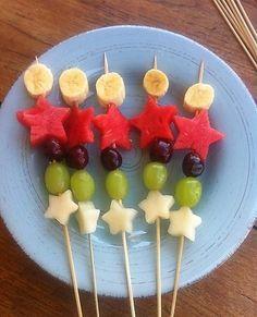 cute fruit skewers
