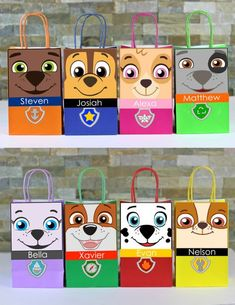 DIY Paw Patrol Party Theme Favor Bags