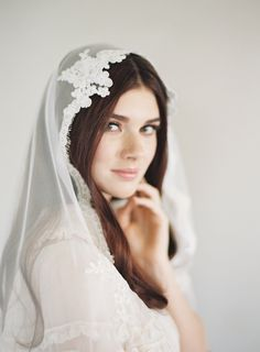 Mantilla veil elegance at its best! Only at www.veiledbeauty.com. https://www.etsy.com/listing/267063923/lace-mantilla-veil-wedding-veil-downton