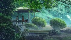 The Garden of Words (言の葉の庭 Kotonoha no Niwa) is a 2013 Japanese anime film produced by CoMix Wave Films and directed by Makoto Shinkai.Garden of Words [Blu-ray] Anime Gifs, Film Anime, Anime Titles, Anime Art, Aesthetic Gif, Aesthetic Videos, Animation, Bakemono No Ko, The Garden Of Words