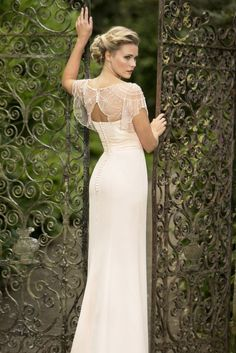 Seauin Beaded Scoop Neck Sheath Light Lilac Chiffon Long Bridesmaid Dress