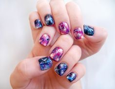Pretty (Squared): Galaxy Nails - Nail Art Tutorial