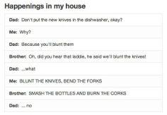 Happenings in my house. Haha