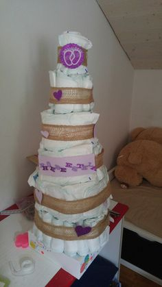 Giant diapers cake torta pannolini grande