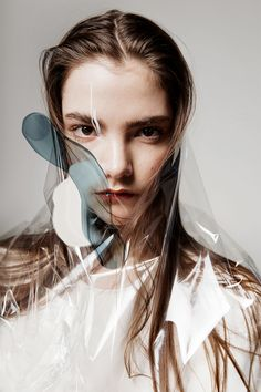 PLASTIC --- visual by Oona Smet & Louise Mertens, hair & make-up: Crystal Die, styling: Anne-Sophie Christiaens, model: Claire Laffut