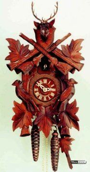 Amazon.com: German Cuckoo Clock 8-day-movement Carved-Style 20 inch - Authentic black forest cuckoo clock by Hekas: Home & Kitchen