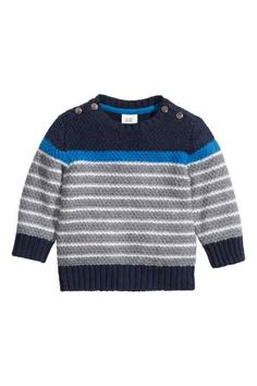 Pull à maille structurée Baby Boy Knitting Patterns, Knitting For Kids, Crochet For Kids, Knit Baby Sweaters, Boys Sweaters, Baby News, Boys Winter Clothes, Kids Vest, Baby Cardigan