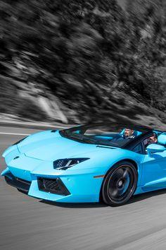 Blue Cepheus Lamborghini Aventador Roadster