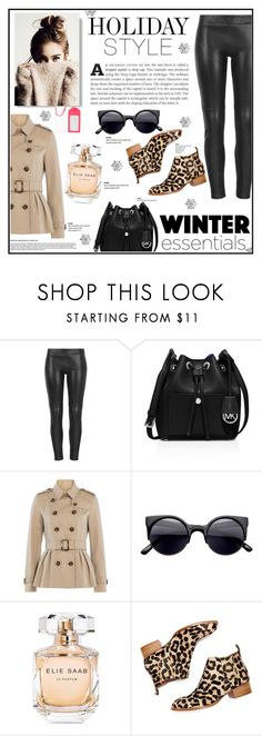 """""""HOLIDAY STYLE"""" by alisijaa ❤ liked on Polyvore featuring MuuBaa, MICHAEL Michael Kors, Burberry, Elie Saab, Jeffrey Campbell, Kate Spade, contest, leatherpants, contestentry and holidaystyle"""