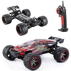 Hobby RC Trucks - ECOM RC S912 33MPH 112 Scale Electric Monster Hobby Truck with Waterproof Electronics and Remote Control Red >>> Check out the image by visiting the link.