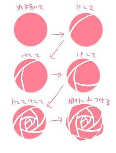 How to draw a rose:
