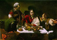 TOUCH esta imagen: Supper at Emaus, Caravaggio by Maite Fresnillo