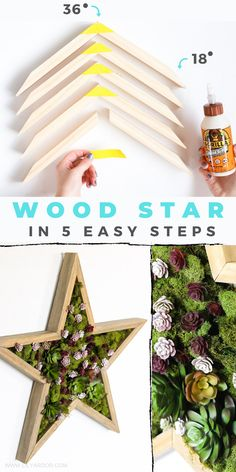 Diy Wooden Projects, Wooden Crafts, Wooden Diy, Diy Craft Projects, Diy Crafts, Pallet Crafts, Pallet Projects, Star Decorations, Christmas Decorations