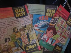 The Adventures of Big Boy Comic Books - loved getting these every time we'd eat there when I was little.