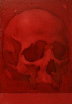 Vanitas, olio su ardesia, 24 x 17 cm, 2016 (collezione privata)