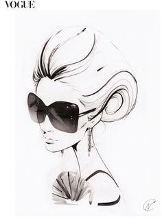 Nuno Da Costa - Contemporary Fashion,Beauty,Line Illustrator Arte Fashion, Vogue Fashion, Fashion Beauty, Work Fashion, Editorial Fashion, Fashion Models, Style Fashion, Fantasy Magic, Mode Poster