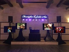 2 with 8 screen display with name, for photos Video Wall, Display Screen, Photomontage, Screens, Quad, Presentation, Lost, Names, Photos