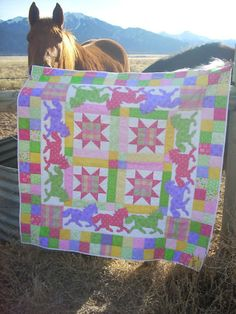 horse quilt...awesome but I would want in browns blacks and grays