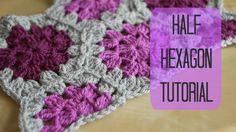 CROCHET: Half hexagon tutorial | Bella Coco, thanks so video lass xox ☆ ★   https://www.pinterest.com/peacefuldoves/