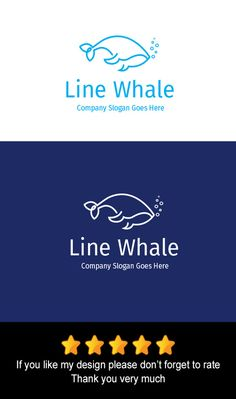 Line Whale Logo by goodigital13 on @creativework247
