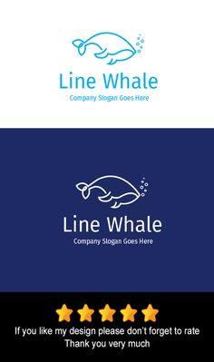 Line Whale Logo by goodigital13 on @creativework247