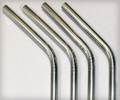 Stainless steel straws for drinking, better alternative to plastic straws. They are washable, re-usable and environment friendly.