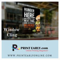 Window Clings, Banner Printing, How To Get, Prints, Printmaking