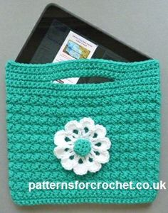 [Free Pattern] Crochet Tablet Bag PatternKnit And Crochet Daily