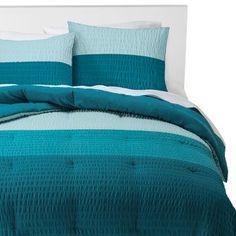 Textured Colorblock Comforter Set - Blue - Room Essentials™