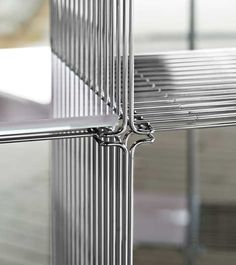 Panton Drahtregal verchromte Stahl mit Glasplatten