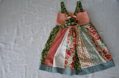 DIY Little Girls Patchwork Dress - Back
