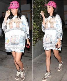 When Keepin' It Real Goes Wrong: Rihanna's Street Style Overload | StyleBlazer