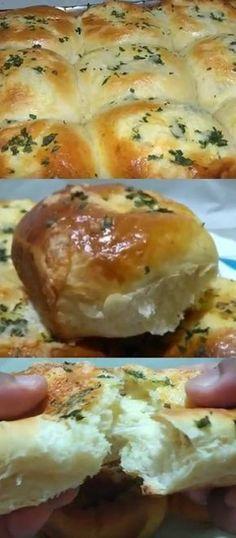 APRENDA A FAZER PÃOZINHO LANCHE COM MASSA DE ALHO E RECHEIO DE QUEIJO #pão #pãozinho #massa #alho #recheio #queijos