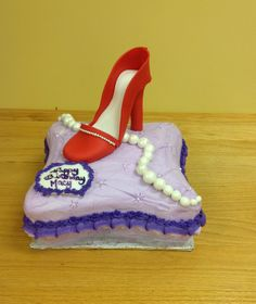 High Heeled Shoe Pillow Cake From Saras Sweets Bakery Grand Rapids MI
