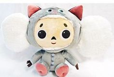"Cheburashka Plush (11"") Hoodie version - White Cheburashka. Imported from Japan. Furyu"