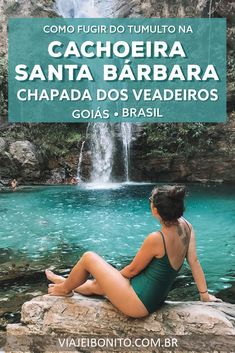 Cachoeira Santa Bárbara, Chapada dos Veadeiros: como fugir do tumulto - Places To Travel, Places To See, Places Around The World, Around The Worlds, Brazil Beauty, Paradise Places, Brazil Travel, Best Cities, Amazing Destinations