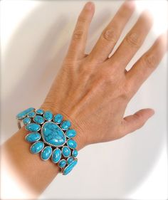 Dressed Up or Down, This Turquoise Cuff will Become a Go-To Piece Super Cool Paired With Jeans and a Tee Shirt, Stylish In The Evening,