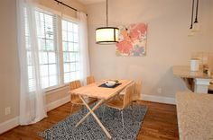 Breakfast nook we staged for a property in Fort Mill, SC