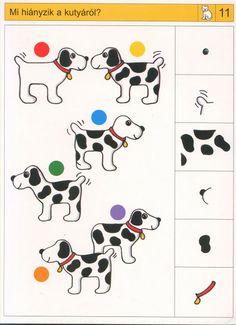 visuele discriminatie voor kleuters / preschool visual discrimination Toddler Worksheets, Preschool Worksheets, Sequencing Cards, Autism Classroom, Home Activities, Therapy Dogs, Preschool Math, Creative Thinking, Math Games