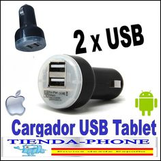 CARGADOR DE MECHERO IPHONE 4 S 3 G 4S 3G 3GS IPAD 2 3 COCHE DOBLE USB 3.1A IPAD3