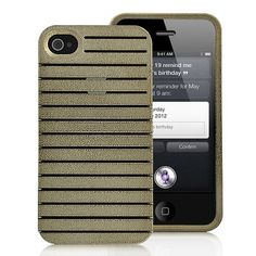 Detachable Brilliant Hard Case Cover For iPhone 4S - Apricot