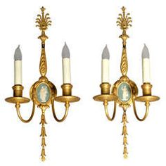 Great Pair of Neoclassical Sconces