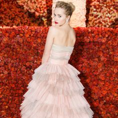 Suki Waterhouse - Met Gala 14 - In a Burberry Prorsum dress.
