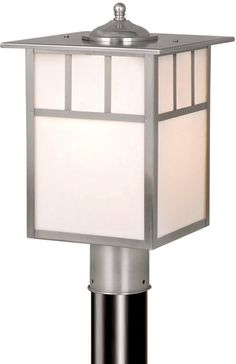 View the Vaxcel Lighting OP14695 Mission 1 Light Outdoor Post Light at LightingDirect.com.