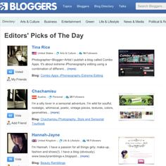 Featured as Editor's Pick of The Day @ bloggers.com