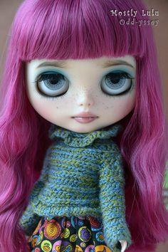 OOAK Factory Blythe Custom Art Doll - Scarlett
