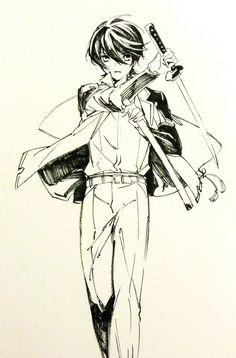 Anime Drawings Sketches, Anime Sketch, Pose Reference, Drawing Reference, Japanese Art Styles, Really Cool Drawings, Mutsunokami Yoshiyuki, Anime Family, Monster Art